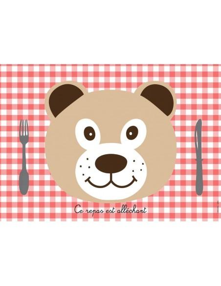 Set de table,Set De Table Enfant: Ours
