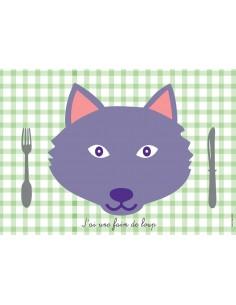 Set de table,Set de table enfant: Loup