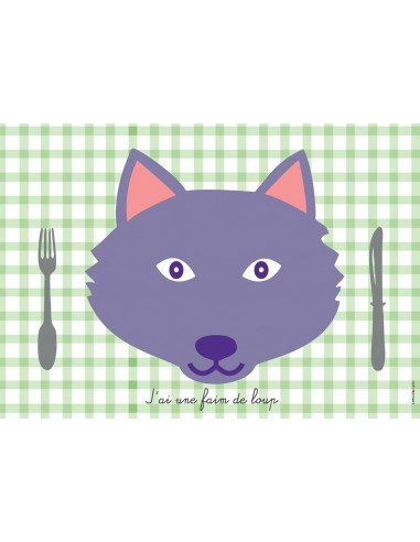 Set de table,Set de table enfant: Loup