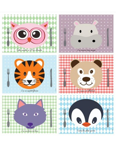 Set de table,Kit sets de table: Animaux