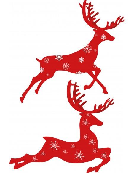 Stickers Noël,Sticker Noël: Rennes