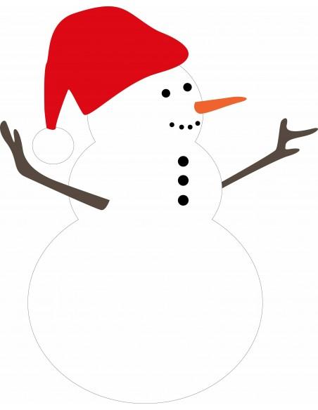 Stickers Noël,Sticker Noel: bonhomme de neige
