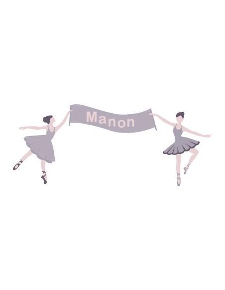Stickers Danseuse,Sticker Prénom Danseuse à personnaliser