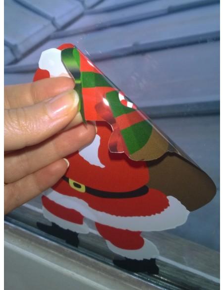 Stickers Noël,Déco Repositionnable: Bonhomme de Neige
