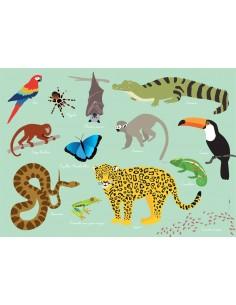 Set de table,Set De Table Enfant: Jungle