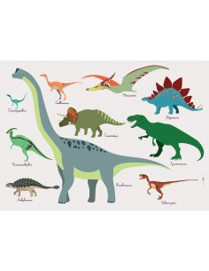 Set de table,Set De Table Enfant: Dinosaures