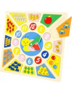 Jouet en bois,Puzzle horloge