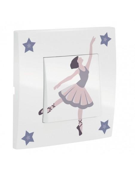 Interrupteur décoré,Interrupteur décoré: Danseuse étoile