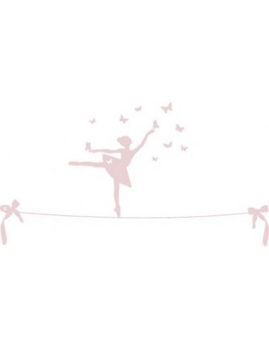 "Stickers Danseuse,Stickers muraux: Danseuse sur Fil ""Rose"""