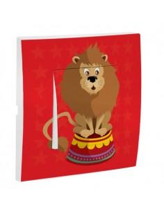 Interrupteur décoré,Interrupteur décoré: Lion du cirque