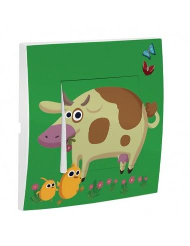 Interrupteur décoré,Interrupteur décoré: Vache
