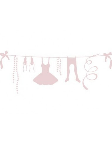 "Stickers Danseuse,Stickers fille: Accessoires Danse ""Rose"""