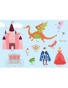 Set de table,Set De Table Enfant: Princesse