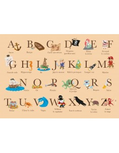 Set de table,Set De Table Enfant: ABC Pirates