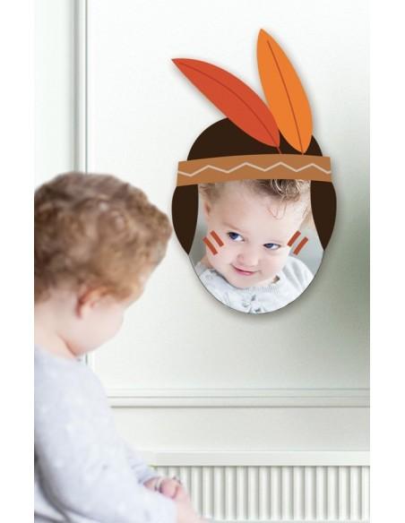 Miroir enfant,Miroir enfant: Tête indienne