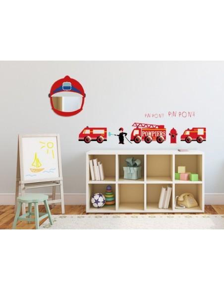 Miroir enfant,Miroir enfant: Tête pompier
