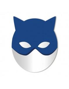Miroir enfant,Miroir enfant: Grand masque de chat bleu
