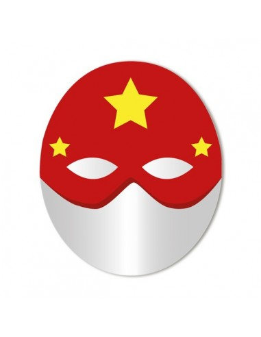 Miroir enfant,Miroir enfant: Masque rouge étoilé