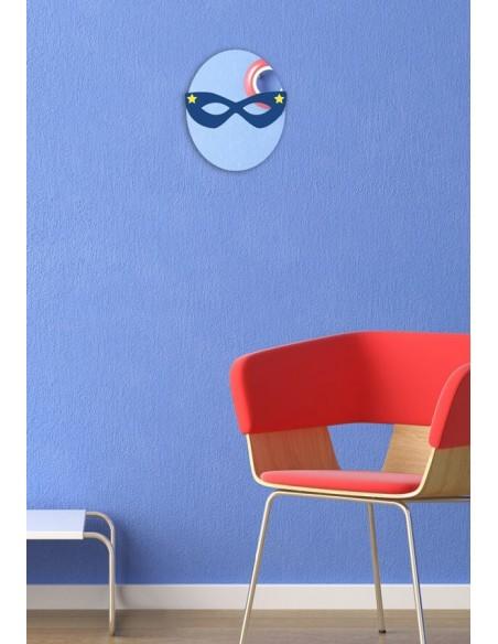 Miroir enfant,Miroir enfant: Masque loup bleu étoilé