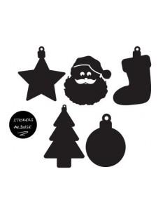 Stickers Noël,Minis Stickers ardoise Noel