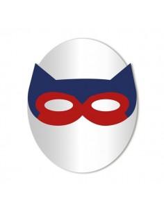 Miroir enfant,Miroir enfant: Masque loup rouge et bleu