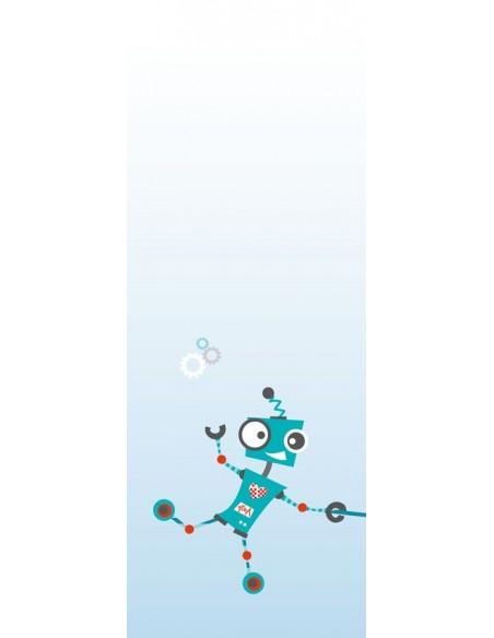 Rideaux chambre garçon,Paire de Rideaux: Robot et chien