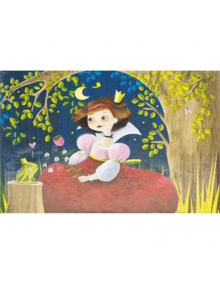 Boîte à Musique & Bijoux,Coffre musical Princesse et Grenouille