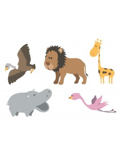 Stickers Jungle & Savane,Stickers Enfants: Version Hippo de la