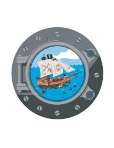 Sticker Pirate : hublot...