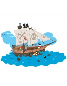 Stickers Pirates,Sticker Garçon: Bateau Pirates