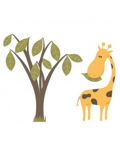 Stickers Jungle & Savane,Sticker enfant: Girafe et son arbre