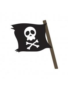 Stickers Pirates,Sticker Garçon: Drapeau tête de mort