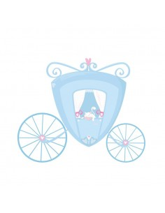 Stickers Fée & Princesse,Sticker Chambre Fille: Carrosse bleu