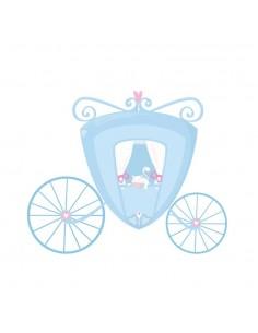 Stickers Fée & Princesse,Sticker Chambre Fille: Carrosse bleu