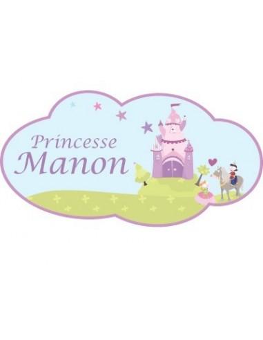 Stickers Prénom,Sticker Prénom: Château de princesse