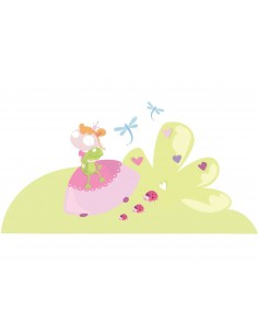 Stickers Fée & Princesse,sticker princesse: paysage princesse