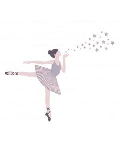 Stickers Danseuse,Stickers muraux: Danseuse Etoiles