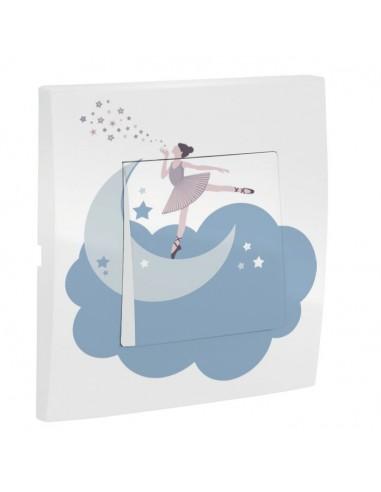 Interrupteur décoré,Interrupteur décoré: Danseuse nuage