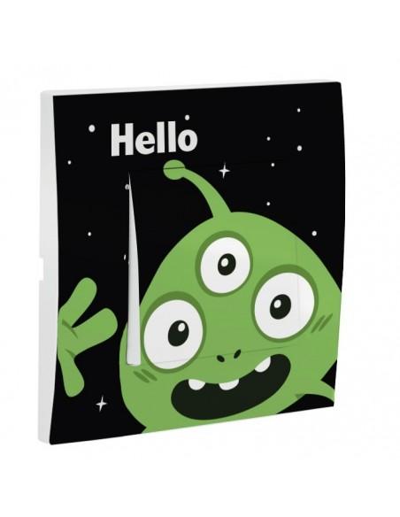 Interrupteur décoré,Interrupteur décoré: Hello E.T.