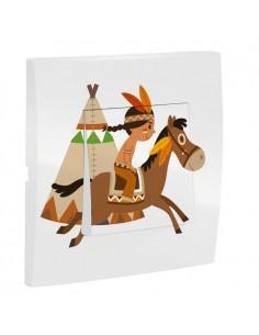 Interrupteur décoré,Interrupteur décoré: Indien à cheval