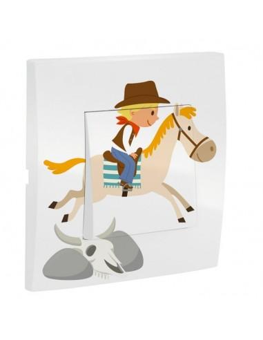 Interrupteur décoré,Interrupteur décoré: Cowboy à cheval