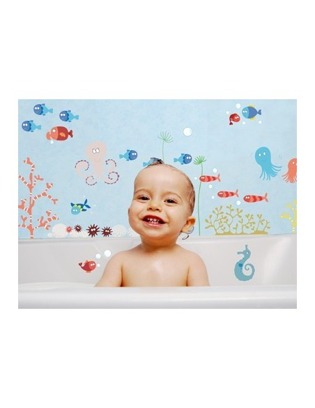 Stickers de la Mer,Sticker Salle de bain: Poulpe