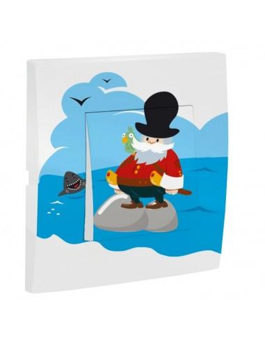 Interrupteur décoré,Interrupteur décoré: Capitaine pirate