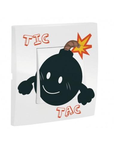 Interrupteur décoré,Interrupteur décoré: Tic Tac