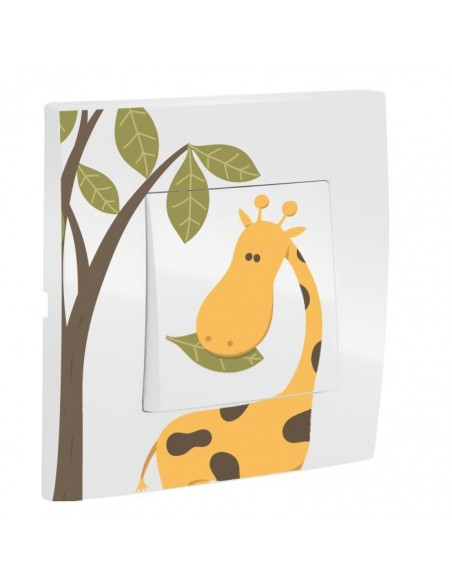Interrupteur décoré,Interrupteur décoré: Girafe
