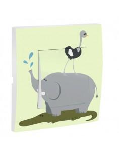 Interrupteur décoré,Interrupteur décoré: Elephant