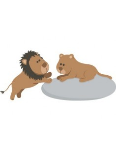 Stickers Jungle & Savane,Stickers enfants: Lion et Lionne