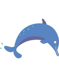 Stickers de la Mer,Stickers muraux de la Mer: Dauphin