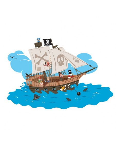 Interrupteur décoré,Interrupteur décoré: Bateau pirate