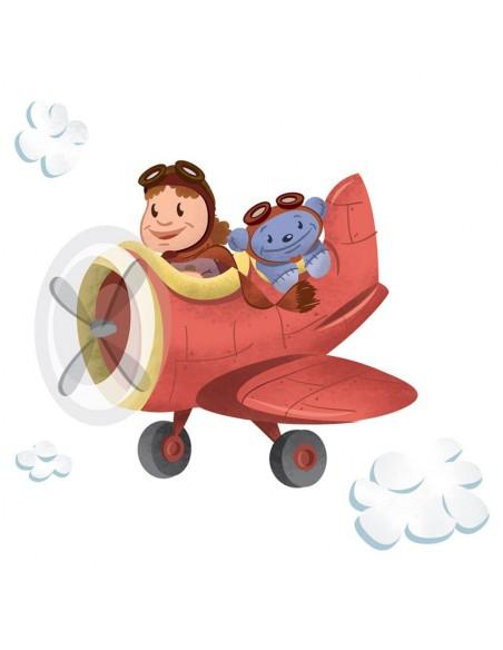 Interrupteur décoré,Interrupteur décoré: Avion Léo & Ruben